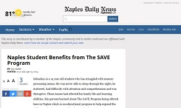 Naples Student Benefits from The SAVE Program